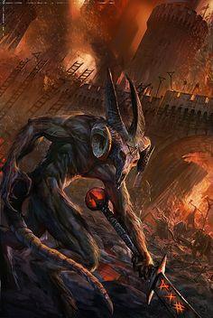 Invasion d'une cité humaine. Ouverte d'un portail d'outre-monde