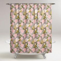 One of my favorite discoveries at WorldMarket.com: Gigi Floral Shower Curtain