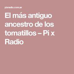 El más antiguo ancestro de los tomatillos – Pi x Radio