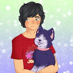Aaron and Celestia❤️ I need to work on drawing animals in my style since I usually draw them a lot more cartoony then I draw humans Donut The Dog, Aphmau Characters, Aphmau And Aaron, Cute Potato, Aphmau Fan Art, Animal Drawings, Drawing Animals, Minecraft Fan Art, Spongebob Memes