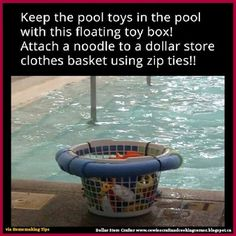 Looking for pool storage ideas? If you have a pool, I bet it's getting a lot of use now. Here are awesome pool storage ideas to keep it organized! Pool Toys For Kids, Kid Pool, Pool Fun, Swimming Pool Toys, Pool Toy Organization, Organization Ideas, Pool Storage, Laundry Storage, Smart Storage