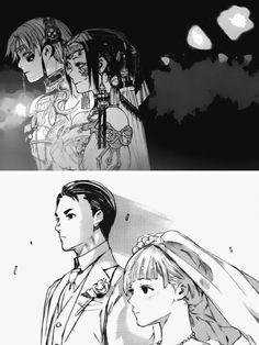 Kaneki x Touka && Takeomi x Yoriko wedding <333