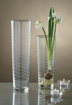TAG Swirl Etched Glass Vase