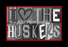 I heart the Huskers  via Etsy