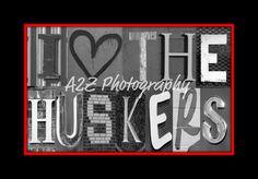 I heart the Huskers  via Etsy