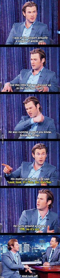 Hemsworth is de-NIED! I love Chris Hemsworth Funny Marvel Memes, Marvel Jokes, Dc Memes, Funny Memes, Hilarious, Avengers Memes, Funniest Memes, Funny Quotes, Marvel Dc