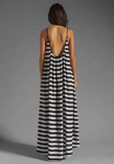 Mikoh Swimwear Biarritz Low Back Maxi Dress in Swell Lines 0118a992860