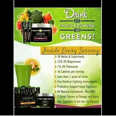 Are you getting enough greens? Drink them along with probiotics with It works greens! http://nikkitafaith.itworksca.com