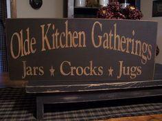 Olde Kitchen Gatherings Primitive Wood by DaisyPatchPrimitives, $16.00