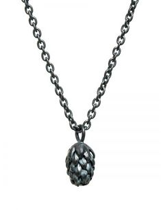 Norfolk Pine Single Drop Necklace - Labradorite - e. Drop Necklace, Pendant Necklace, Norfolk Pine, Contemporary Jewellery, Handmade Silver, Labradorite, Galleries, Trends, Sterling Silver