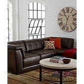 Stacey Leather Modular Living Room Furniture Collection with Sets & Pieces