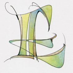 Peter Thornton & Sherri Kiesel (lady T) Hand Lettering Alphabet, Alphabet Art, Calligraphy Letters, Letter Art, Modern Calligraphy, Initial Letters, Doodle Art Drawing, Zentangle Drawings, Handwritten Typography