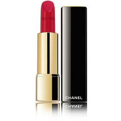 ROUGE ALLURE Luminous Satin Lipcolor (2.335 RUB) ❤ liked on Polyvore featuring beauty products, makeup, lip makeup, lipstick, beauty, cosmetics, chanel, lips and chanel lipstick
