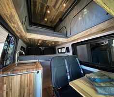"""""""Black Beauty"""" is a 2019 Sprinter with added pop top, high-end finishes, upgraded suspension and all the features you need. Sprinter Camper Conversion, Camper Van Conversion Diy, Mercedes Sprinter Camper Van, Black Rhino Wheels, Grey Water System, Diy Rv, Van Interior, Custom Vans, Ford Transit"""
