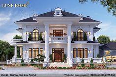 Classic House Exterior, Modern Exterior House Designs, Modern House Facades, Classic House Design, Bungalow House Design, Modern House Plans, Modern House Design, Villa Design, Village House Design