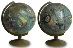 Decoupage - Where the wild things are globe. A superheroe one would be cool too