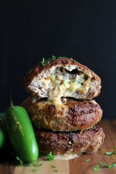 Take your turkey burger to the next level with this Jalapeno Cheddar Burgers recipe