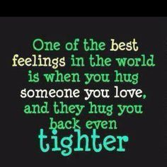 Hugs are great!