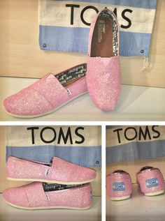 TOMS WOMENS CUSTOM MADE GLITTER CRYSTAL SHOES WEDDING BRIDE BRIDESMAID 524bac567