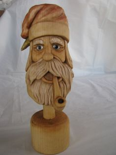 Santa Mountain Man Handcarved by alicewoodcreations on Etsy, $195.00