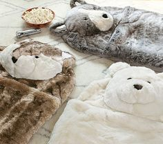 Snuggly and super special these Faux Fur Sleeping Bags will make any child on…
