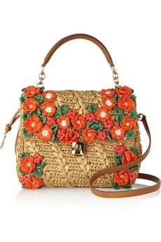 Totes & Bags| Serafini Amelia| Straw Bag-Gypsy Living Traveling In Style-| Designer bag- Dolce & Gabbana- flowered straw purse dual handles