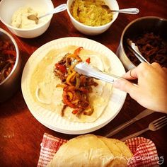 Quirky Cooking: Beef or Chicken Fajitas - these are the BUSINESS. Probably my fave Thermomix meal. And you GOTS to make your own homemade tortillas - it's a gamechanger. Beef Recipes, Mexican Food Recipes, Whole Food Recipes, Cooking Recipes, Recipes Dinner, Recipies, Healthy Recipes, Mexican Dishes, Healthy Meals