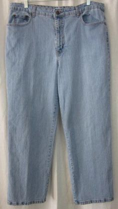Kim Rogers Jeans Size 16 Short 36x28 Relaxed Fit Free Shipping #KimRogers #Relaxed
