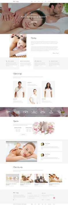 Buy Pure - Spa and Beauty PSD Template by on ThemeForest. PURE is a Spa and Beauty PSD theme with minimal and modern design. If you are looking for a Trendy Spa Salon kinda We. Spa Website, Website Ideas, Beauty Life Hacks Videos, Website Design Inspiration, Brand Inspiration, Skin Clinic, Website Layout, Beauty Spa, Site Internet