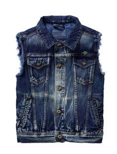 97a8fc2f6542 scotch and soda kids- boys sleeveless trucker jacket