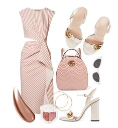 """""""Pinky white"""" by nlaa ❤ liked on Polyvore featuring Gucci, Jason Wu, Yves Saint Laurent and Puma"""