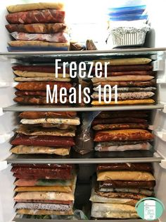 If you are new to freezer cooking, this Freezer Meals 101 guide will give you everything you need to know to get you started. Your freezer will soon be full and your family will be thanking you! Freezer Friendly Meals, Budget Freezer Meals, Slow Cooker Freezer Meals, Healthy Freezer Meals, Dump Meals, Make Ahead Meals, Cooking On A Budget, Freezer Cooking, Cooking Recipes