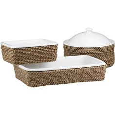 Bakers with Basket in Bakeware | Crate and Barrel