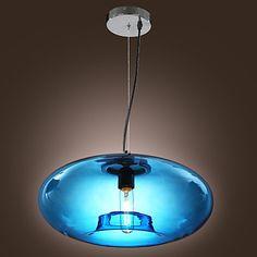 Pendant Light Modern Design Blue Glass Bulb Included – GBP £ 72.99
