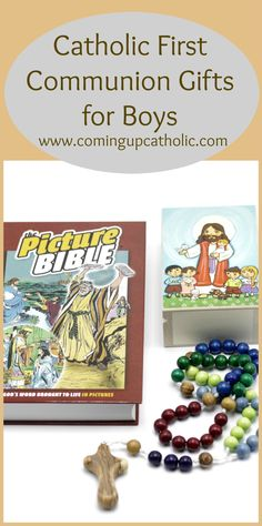 First Communion gifts for Boys! Catholic Gifts, Religious Gifts, Boys First Communion, Bible Words, Gifted Kids, Book Gifts, Gifts For Boys, Activities For Kids, Faith