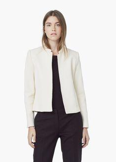 Chaqueta textura algodón - Chaquetas de Mujer  7bb226ff8ab