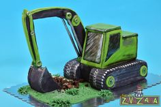 Excavator Cake, Disney Cakes, Edible Art, Projects To Try, Car Cakes, Digger, Oscars, 2nd Birthday, Trains