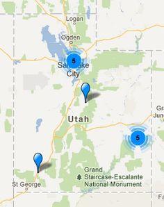 Utah Wine Region Map