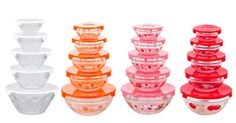 Glass Nesting Bowls with Lids Set Need some new food containers? Keep your food sealed with thisGlass Nesting Bowls with Lids Set. Whether youll use this for your left over food you can easily stack them up in your refrigerator or you can even use this for your packed lunch at work or school! So get your set at Amazon today. Theres so many colors and designs to choose from. Glass Nesting Bowls with Lids Set (10-Piece) $7.99 (Reg. $18.99) 5oz. bowl 8oz. bowl 12oz. bowl 19oz. bowl 32oz. bowl 5…