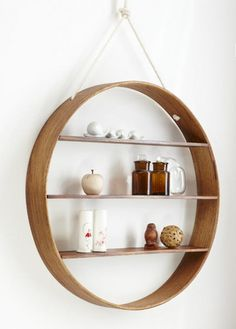 Houzz: inspiration for many things including this - Circle Shelf contemporary wall shelves
