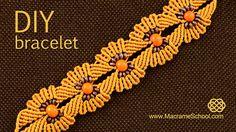 DIY Macramé Flower Bracelet with Beads ✿✿✿
