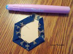 Loose Threads: Hexagons: Thread or Glue Basting?