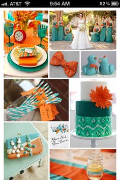My favorite color is turquoise & ed's favorite is orange. Why didn't I think of this in 1994?