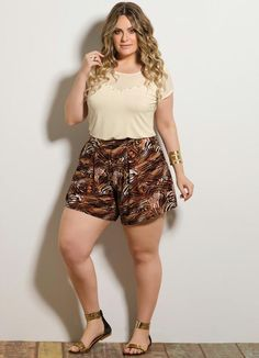 Short Animal Print Plus Size - Posthaus