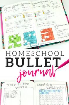 Homeschool Bullet Journal: Your All-in-one Flexible Planner Layouts and ideas for your homeschool bullet journal - including homeschool attendance trackers, curriculum checklists, key and color coding, and planning layouts! Bullet Journal For Kids, Bullet Journals, Bujo, Attendance Tracker, To Do Planner, Happy Planner, Teacher Planner Free, Student Planner, School Plan