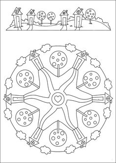Mandalas Coloring Pages 85 Mandala Coloring Pages, Coloring Pages To Print, Coloring Book Pages, Printable Coloring Pages, Coloring Pages For Kids, Mandalas For Kids, Online Coloring Pages, Rug Hooking, Early Education