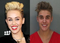 Yep, I did it...resemblance don't you think? #Bieber #Miley