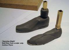 Joshua Flynn - Sculpting Puppet Feet 2