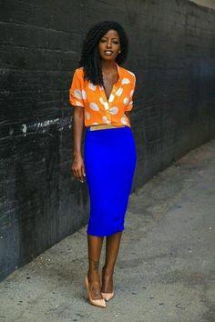 Stretch Jersey Knit Midi Skirt - Blue