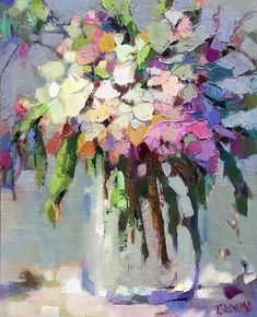 Wild Bouquet von Trisha Adams Oil ~ 16 x 12 - Blumenbilder - Kunst Acrylic Painting Flowers, Abstract Flowers, Abstract Flower Paintings, Blog Art, Arte Floral, Artist Painting, Knife Painting, Art Oil, Watercolor Art